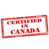 Certified In Canada-stamp — Stock Vector