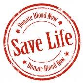 Save Life!-stamp — Cтоковый вектор