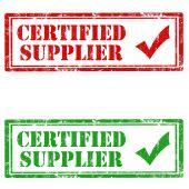 Certified Supplier — Stock Vector