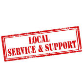Local Service & Support — Stock Vector