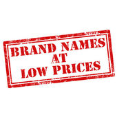 Brand Names At Low Prices — Stock Vector