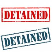 Detained-stamps — Stock Vector