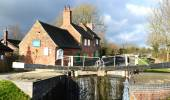 Sandiacre Lock Cottages — Stock Photo