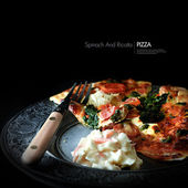 Italian Spinach And Ricotta Pizza — Stock Photo