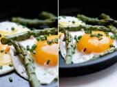 Eggs and Asparagus — Stock Photo
