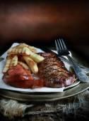 Steak & Fries — Stock Photo