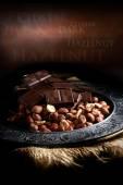 Hazelnut And Chocolate — Stock Photo