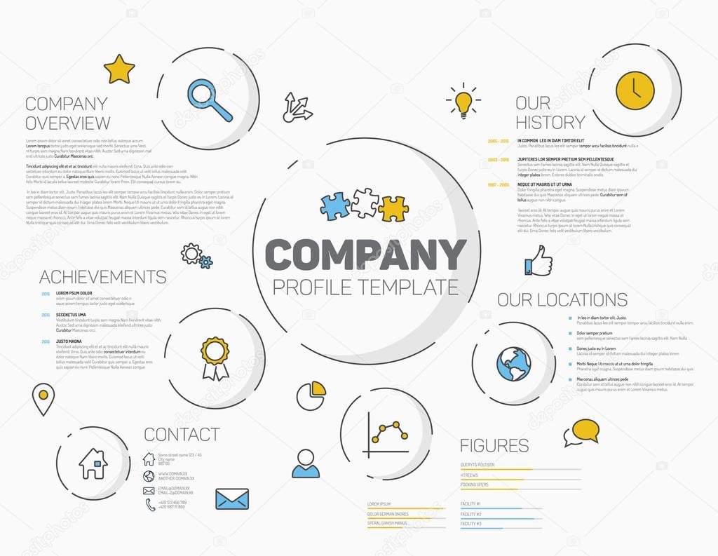 Company infographic profile design template Vector orson – Profile Company Template