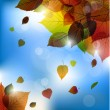 Autumn vector leafs background- fall illustration with back light — Stockvektor  #52839841
