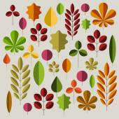 Autumn minimalist abstract floral background pattern — Stock Vector