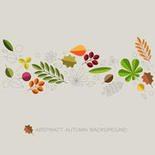 Autumn abstract floral background with place for your text — Stock Vector