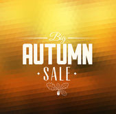 Autumn sale vector retro poster  — Stock Vector