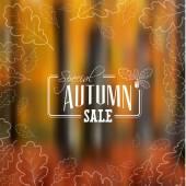 Autumn sale vector retro poster  — Stock Vector