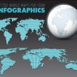 World map and globe for infographics — Stock Vector #55326635