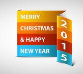 Original Vector New Year card — Stock Vector