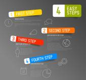 Paper progress steps for tutorial template — Vecteur