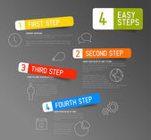 Paper progress steps for tutorial template — Stockvector