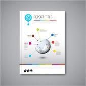 Report design template — Stock Vector