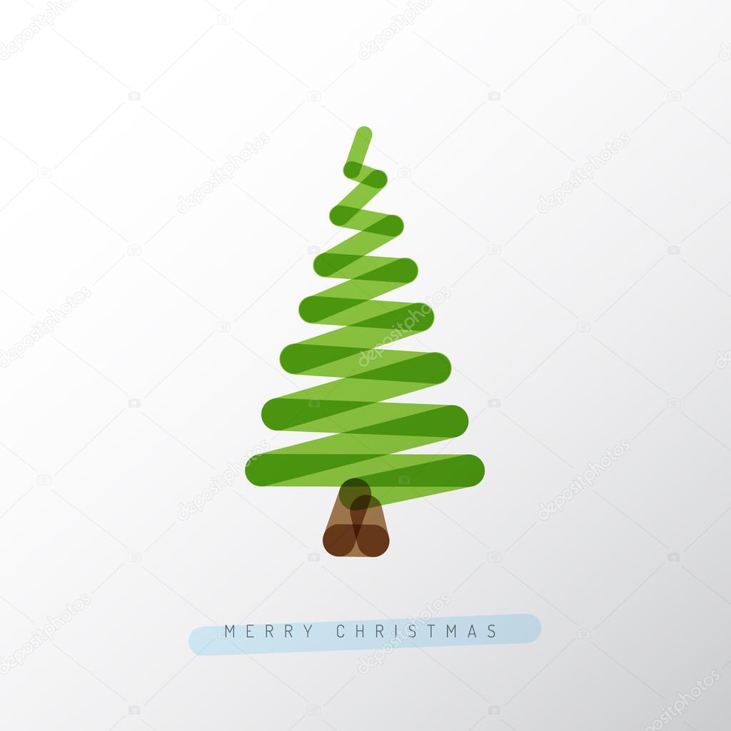 Simple minimalistic vector christmas tree stock vector for Minimalist christmas tree