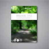 Vector nature brochure report template — Vector de stock