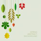 Spring abstract floral background — Stock Vector
