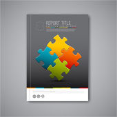 Vector brochure report design template — Stockvektor