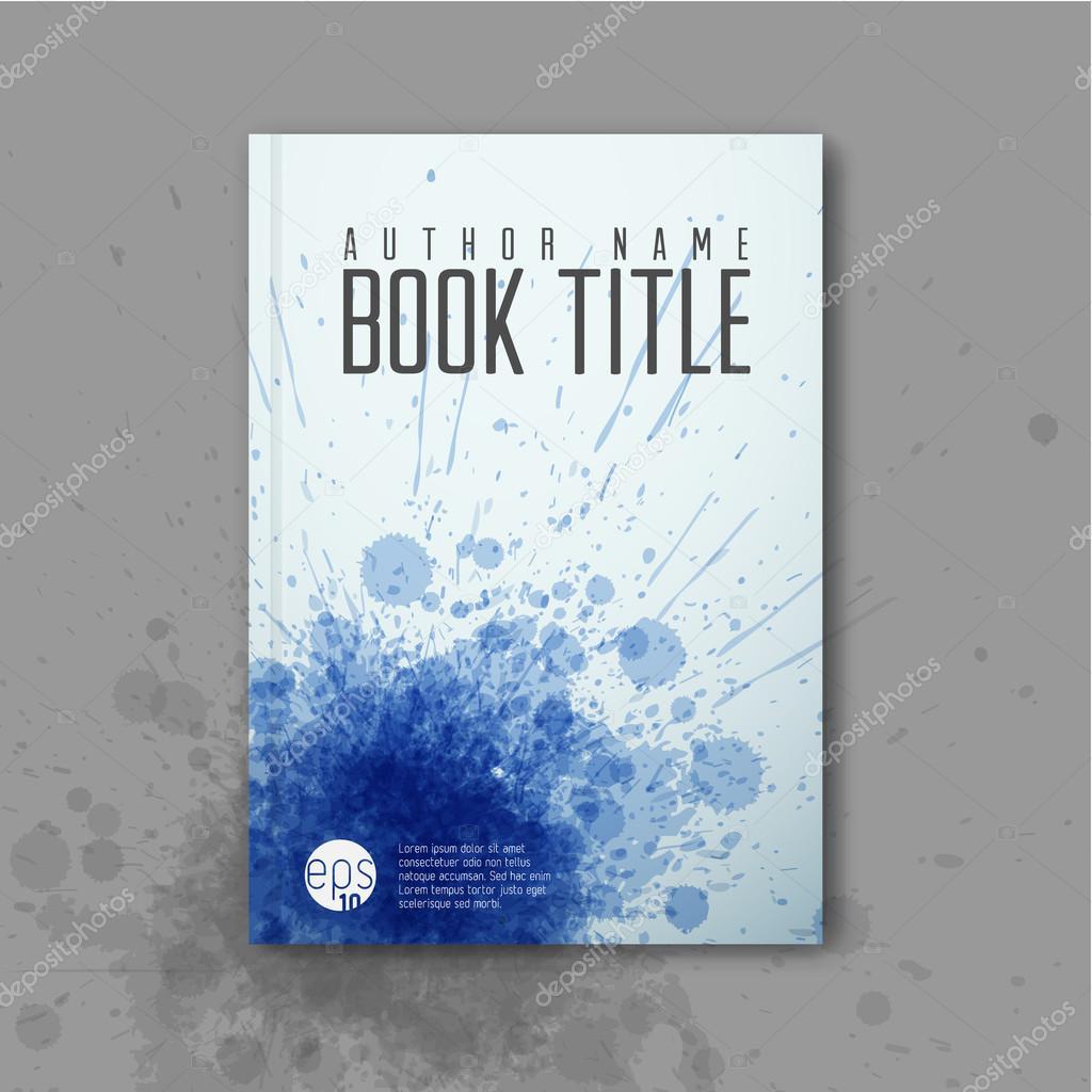 Modern Book Cover Band ~ Abstract book cover template — stock vector orson