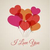 валентинка с сердечками — Cтоковый вектор