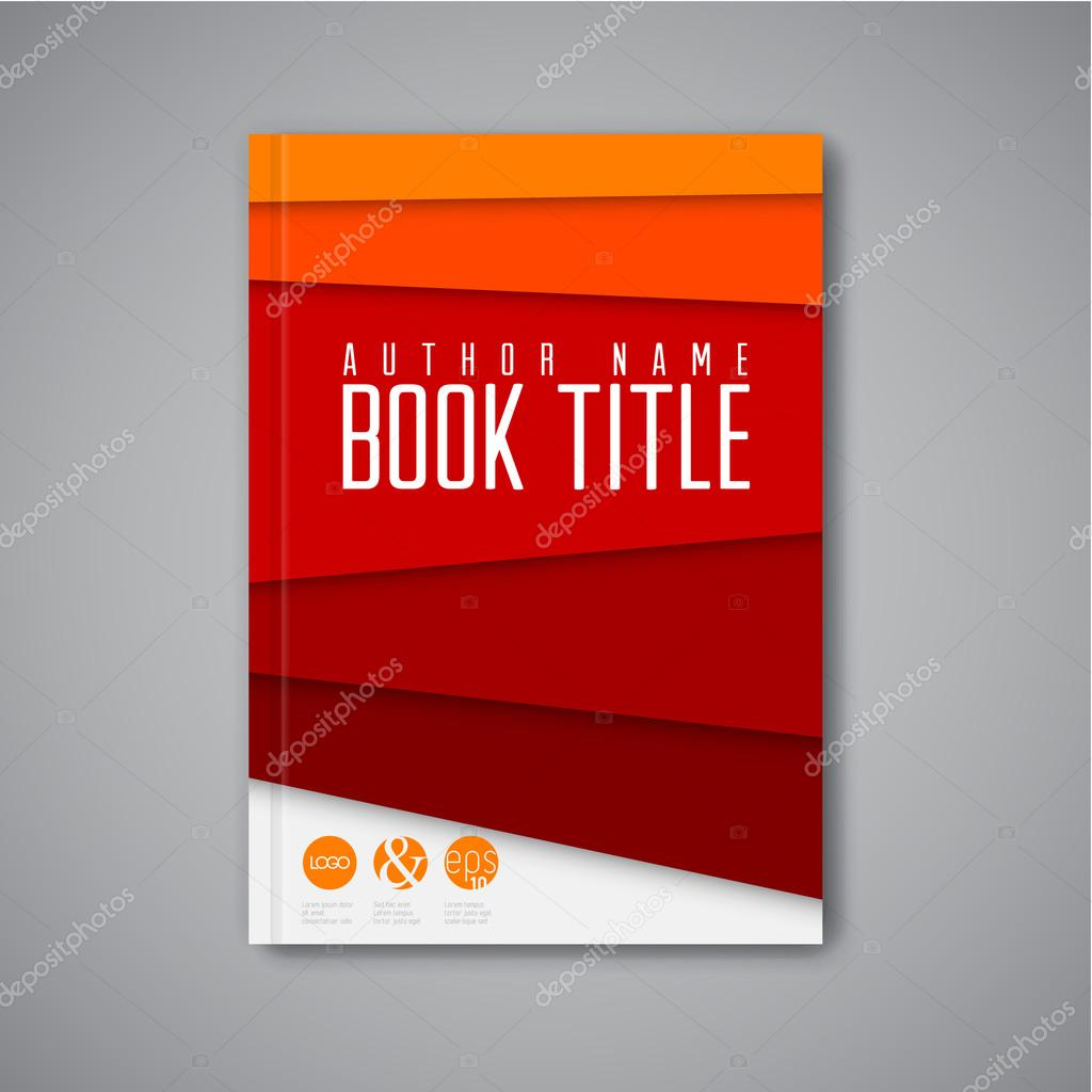 Modern Design For Book Cover ~ Modern book design template — stock vector orson