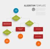 Abstract algorithm vector template — Stock Vector