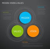 Diagram schema infographic — Stock Vector