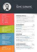 Cv resume template — Stock Vector