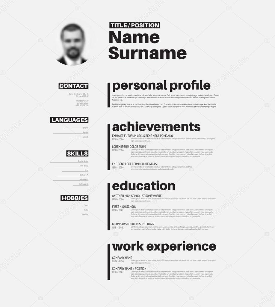 Resume template mexico