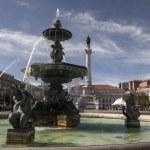 Center fountain in the Rossio square — Stock Photo #60194235
