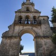 Landmark arc bell tower entrance located in Aracena, Spain — Stock Photo #60197919
