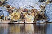 Mining acidic lake — Stock Photo