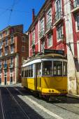 Vintage famous electrical trams — Stock Photo
