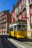 Tram elettrico famoso vintage — Foto Stock