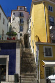 Typical narrow building architecture of Lisbon, Portugal — Stock Photo