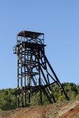 Old abandoned mining coal tower — Stock Photo
