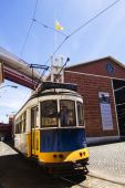 Museum piece of the history of electric trams — Stock Photo