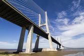 Amazing bridge, Vasco da Gama, located in Lisbon, Portugal — Stock fotografie
