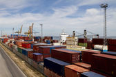Cargo containers docks — Stock Photo