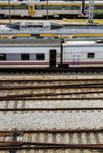 View of the Santa Apolonia train station — Стоковое фото