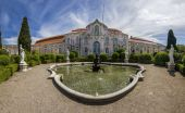 View of the the beautiful National Palace of Queluz — Stock Photo