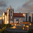 View of the top hill with the Silves main village Church — Stock Photo #60540443