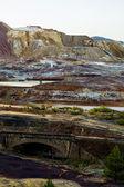 Beautiful view of a mining acidic lake — Stock Photo