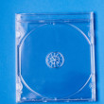Empty transparent jewel CD case. — Stock Photo #67415615