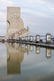 Beautiful view of the Discoveries monument, located in Lisbon — Stock Photo