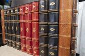 Antique books on a bookshelf. — Stok fotoğraf